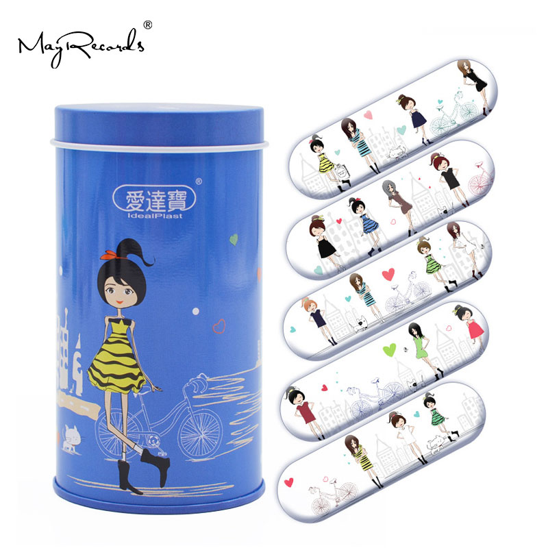 Free Shipping 50PCs Cartoon PE Waterproof Girls Lady Women Style Adhesive Bandages Band Aid First Aid