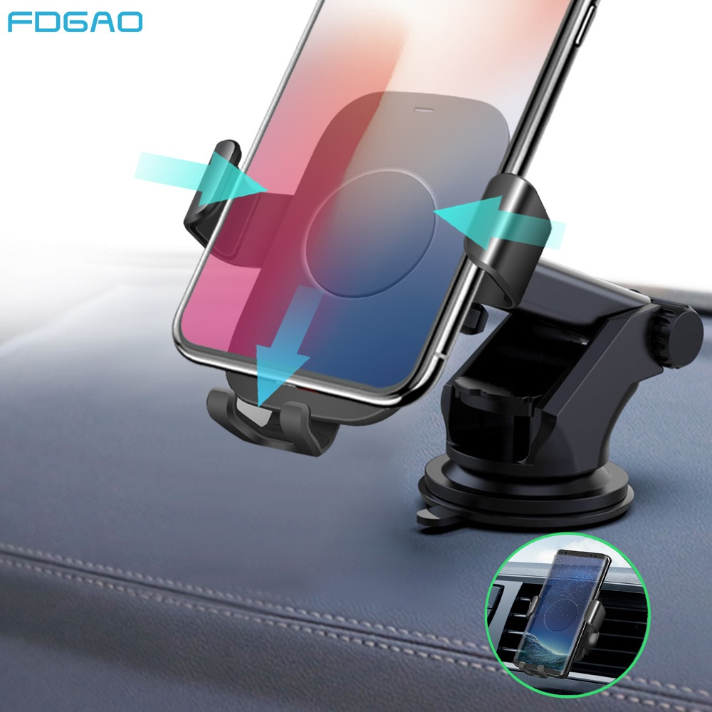 FDGAO Qi Car Wireless Charger for iPhone 11 Pro XS max Samsung S9 S10 Mobile Phone Charger Fast Charging Car Phone Holder Stand