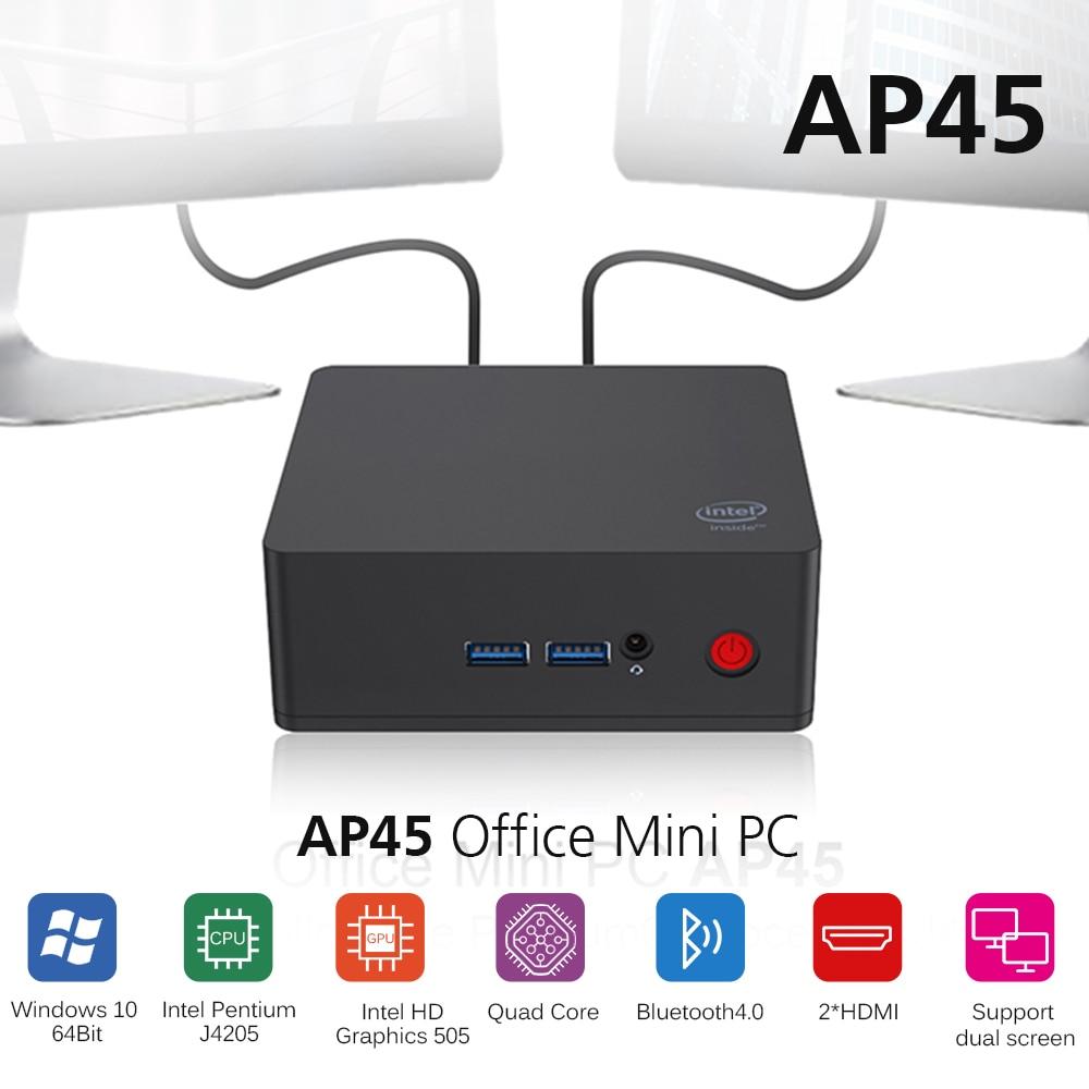 AP45 Office Mini PC Intel Apollo Lake J4205 Intel HD Graphics 505 Win10 8GB 256/512GB ROM 2.4G+5.8G WiFi 1000Mbps BT4.0 Mini PC