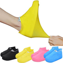 Outdoor latex shoe cover rainy day waterproof thickening non-slip wear foot cover cheap JYFTNC Shoes Covers Plastic Solid