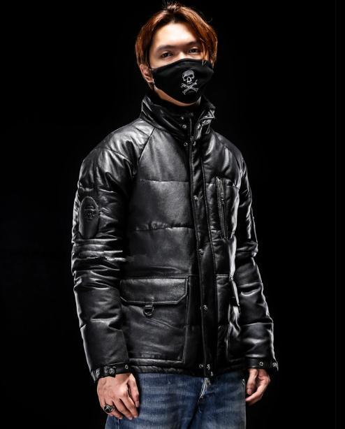Free Shipping.fashion New Man Winter Warm Soft Sheepskin Jackets,men's 100% Genuine Leather Jacket.80% White Duck Down,quality