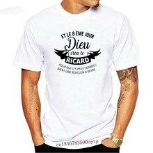 Hommes t-shirt And 8 Eme Jour Dieu Crea Au Ricard Verser That Vrais Hommes Aient L'une Boisson UN Boire Femmes t-shirt