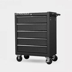 Caja de Herramientas de almacenamiento con 5 cajones de DA-25, herramientas de taller, kit de herramientas de mantenimiento de reparación de automóviles multifuncional móvil, armario
