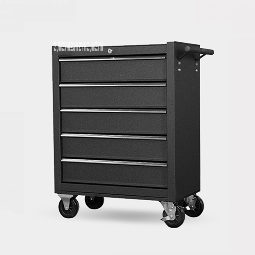DA-25 5 Drawer Storage Tool Box Trolley Workshop Hardware Mobile Multi-Functional Auto Car Repair Maintenance Toolkit Cabinet