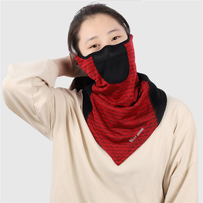 Ha0f33e07771345b7869916e2bf4ba24bs WEST BIKING Winter Cycling Mask Fleece Thermal Outdoor Sports Facemask Bandana Headband Anti-UV Running Training Ski Face Mask