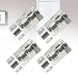 4 Pcs Home Silver Hasp Latch S