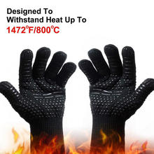 Hot Sale 800 Celsius Degree Cut-Resistant High Temperature Gloves Anti-Bright Fire Color Keep BBQ Gloves Fireproof Nomex Gloves