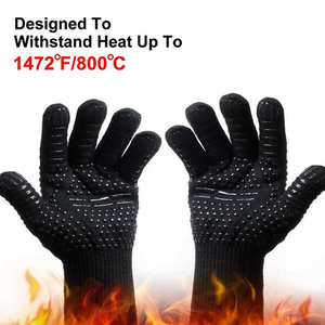 High-Temperature-Gloves Fireproof Anti-Bright Cut-Resistant Celsius-Degree 800 Hot-Sale