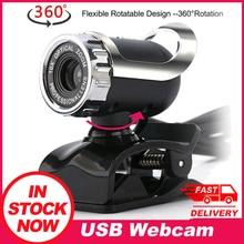 Usb Webcam USB 2.0 12.0 מגה פיקסל דיגיטלי אינטרנט מצלמה 360 מעלות קליפ על עם מיקרופון עבור מחשב נייד מחשב