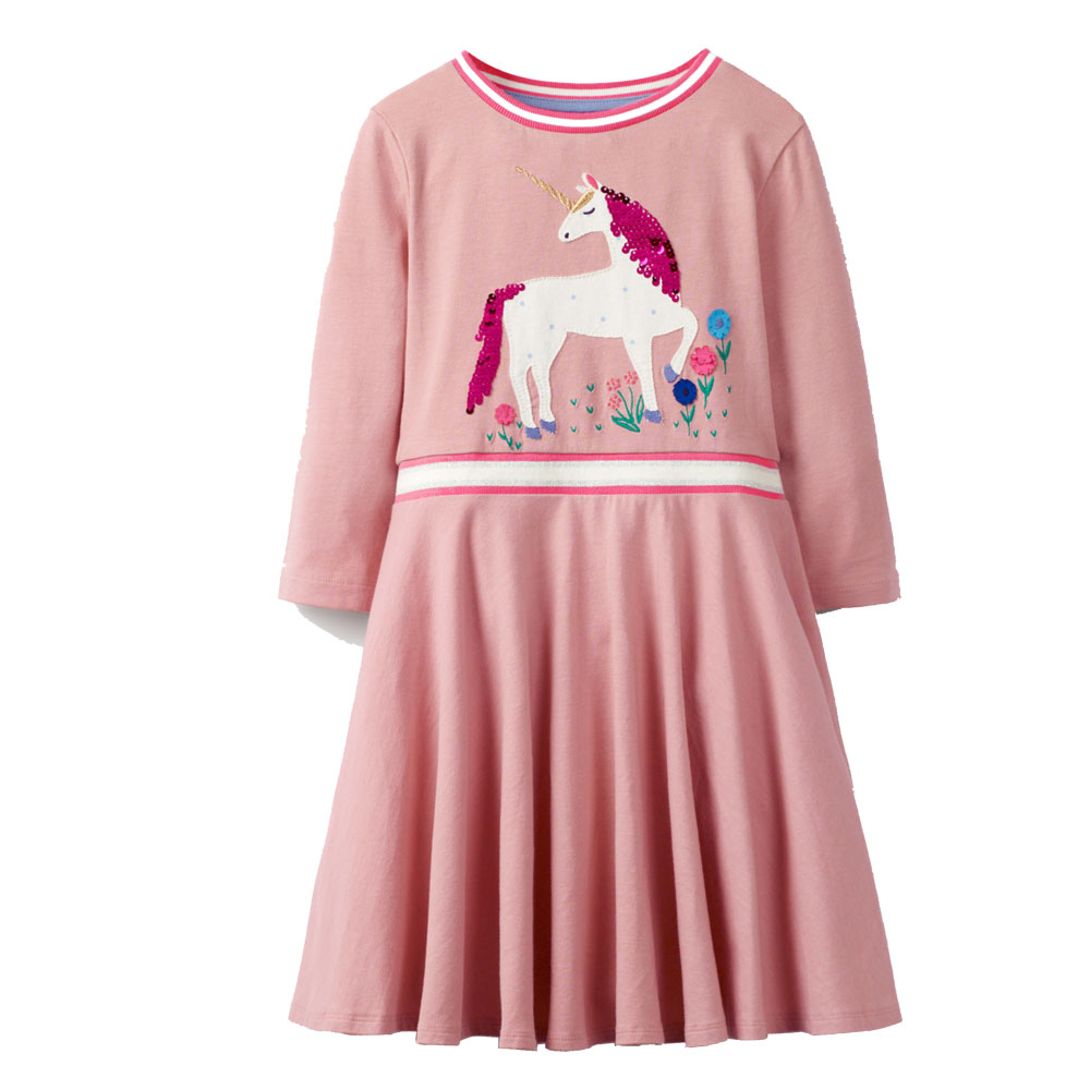 Baby Girl Clothes 2019 Autumn Winter Toddler Girl Dresses Unicorn Party Sequined Princess Dress For Girls Costume Kids Dress