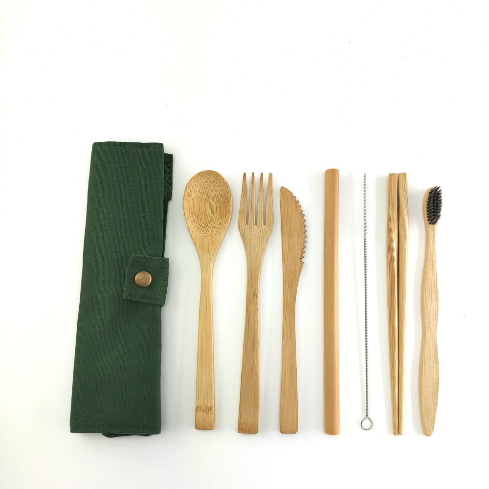 Reusable Organic Zero Waste Bamboo Utensils Fork Spoon Knife Eco Friendly Kitchen Utensils » Planet Green Eco-Friendly Shop