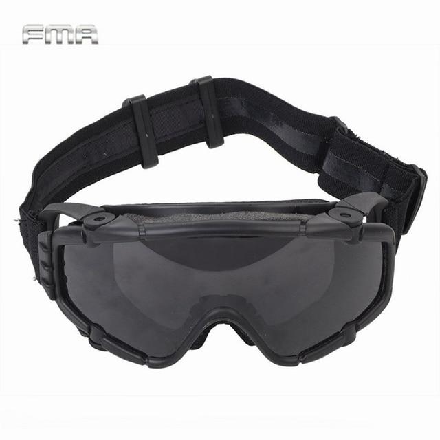 FMA טקטי Si בליסטי נגד ערפל משקפי עם מאוורר נגד אבק חיצוני Airsoft פיינטבול בטיחות משקפיים Eyewear עם 2 עדשה