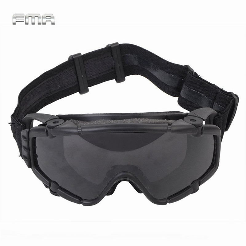 FMA Tactical SI-Ballistic Anti-fog Goggles With Fan Anti-dust Outdoor Airsoft Paintball Safety Glasses Eyewear With 2 Lens