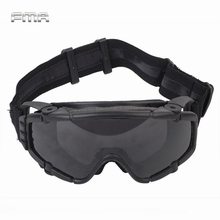 FMA Tactical SI Ballistic Anti fog Goggles with Fan Anti dust Outdoor Airsoft Paintball Safety Glasses Eyewear with 2 Lens