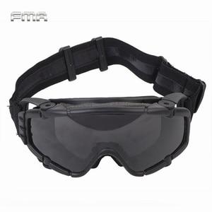 Image 1 - FMA lunettes de sécurité SI balistiques Anti brouillard, avec ventilateur, Anti poussière, lunettes de sécurité Airsoft Paintball pour lextérieur avec 2 lentilles