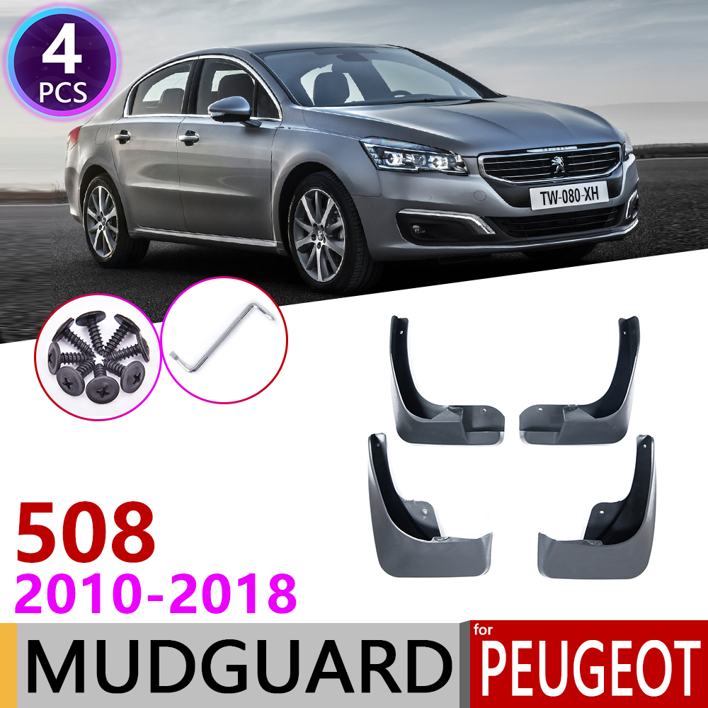 For Peugeot 508 SW 508sw 2010~2018 Fender Mud Flaps Guard Splash Flap Mudguards Accessories 2011 2012 2013 2014 2015 2016 2017