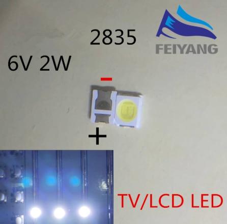 أوسرام LED الخلفية عالية الطاقة LED 1.5 واط 6 فولت 1210 3528 2835 150LM كول الأبيض LCD الخلفية لتطبيق التلفزيون التلفزيون 500 قطعة