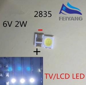 Image 1 - LED firmy OSRAM podświetlenie dioda LED dużej mocy 1.5W 6V 1210 3528 2835 150LM zimny biały podświetlenie LCD do telewizora do TV 500 sztuk