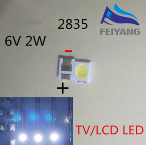 Image 1 - Luz de fondo LED OSRAM LED de alta potencia 1,5 W 6V 1210 de 3528 de 2835 150LM blanco iluminación LCD trasera para TV aplicación de TV 500 Uds