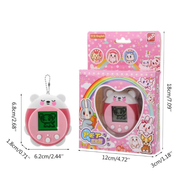 Mini Electronic Pets Toys 90S 9 Pets In One Virtual Cyber Pet Toy Funny Christmas Gift For Kids Adults 634F