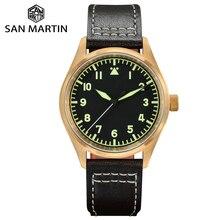 San Martin Watch Bronze Mechanical Pilot Men's Watc