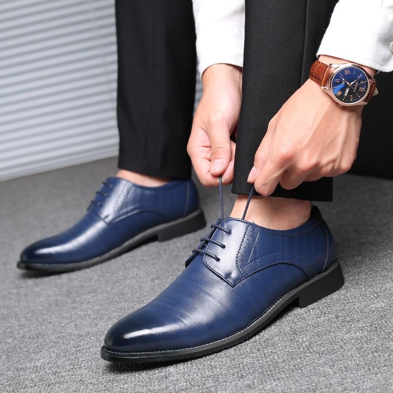 Party Wedding Dress Shoes Men Leather Oxford Shoes For Men Zapatos De Hombre De Vestir Formal Shoes Men Sapato Social Masculino