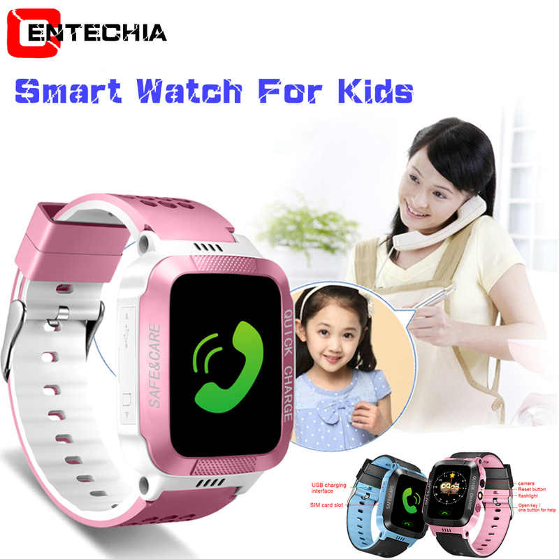Smart Watch For Kids Safe LBS SOS Camera SIM Call Baby Wristwatch Alarm Clock Waterproof Gift For Children GPS PK DZ09 GT08 A1