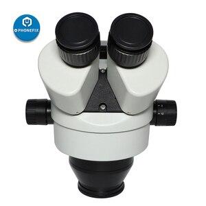 Image 4 - 3.5X 90X simul fokal trinoküler mikroskop Zoom Stereo mikroskop kafa + 0.5X 2.0X yardımcı Lens için telefon PCB lehimleme onarım