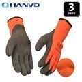 3 пары уплотненных рабочих перчаток плюс бархатная теплая зимняя одежда Нескользящие кислотные щелочные удобные ремонтные защитные перчат...