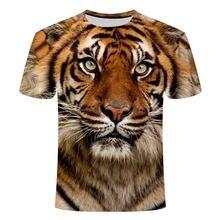 2020 новый летний животных Лев 3d печать футболка мужская с