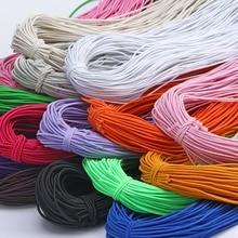 Высокоэластичная 1 мм цветная круглая резинка круглая эластичная канатная Резиновая лента эластичная линия DIY Швейные аксессуары 8 м/лот