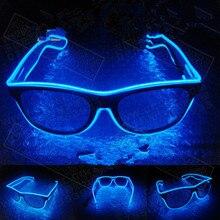 Светящиеся очки, светодиодный провод, светящиеся вечерние очки, светильник ing, новинка, подарок, яркий светильник, праздничные вечерние светящиеся солнцезащитные очки
