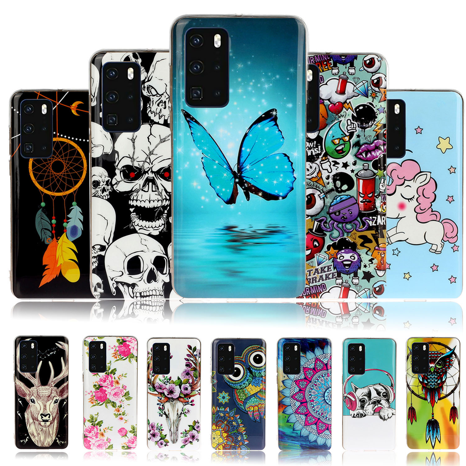 High Heels Protective Phone Cases For Samsung A50 Galaxy A50S A30S A40 A60 A90 A70 A70E A8S A41 A80 Soft TPU Protector Case image