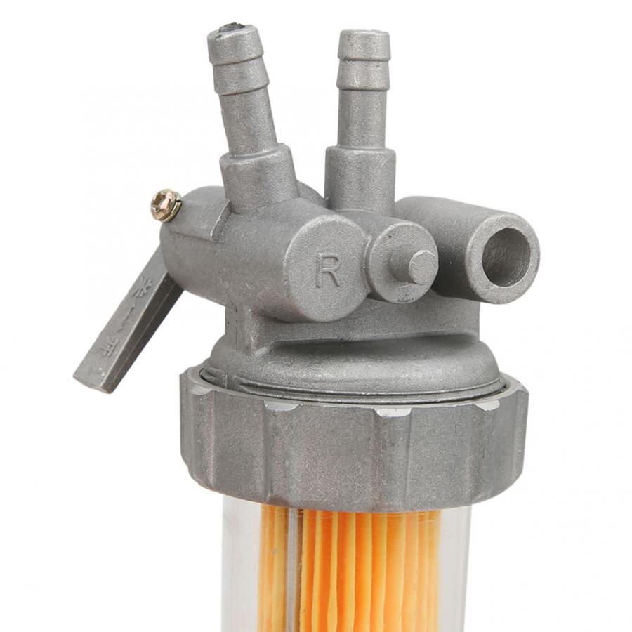 Durable Diesel Generator Filter ABS Replacement Fuel Oil Filter Fuel Water Separator Diesel Inline Pipe Filter For Diesel Generator Engine 186FA 178FA 186F 5KW