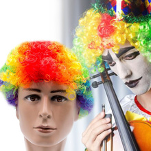 Карнавальные вечерние парики для карнавальный на Хэллоуин, рождественские платья, костюмы клоуна для косплея, футбольные фанаты, Детские вечерние шапки для взрослых