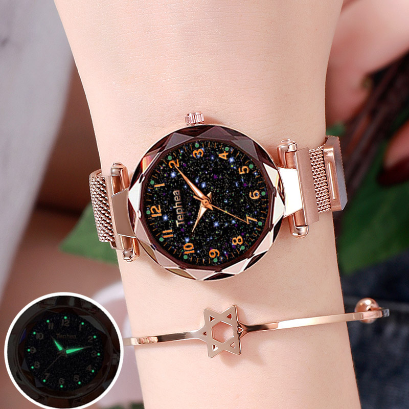 Dropshipping Starry Sky Women Bracelet Wrist Watch For Female Clock Relogio Feminino 2019 Zegarek Damski Luminous Hands Watches
