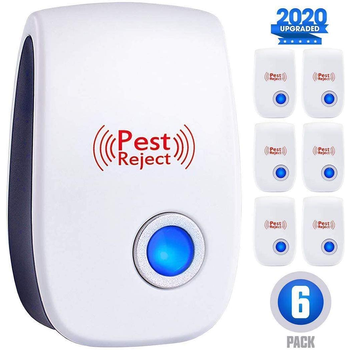 AIRMSEN Ultrasonic Pest Repeller Electronic Mosquito Repellent Mouse Rats Spiders Cockroach Insect Killer Control 2/4/6/8 PCS - discount item  30% OFF Garden Supplies
