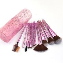 12Pcs/set Diamond Crystal Makeup Brushes Set Make Up Tools F