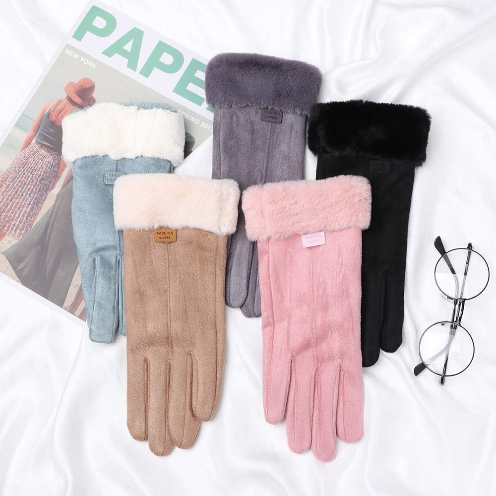 New Arrival Winter Gloves Women Touch Screen Gloves Ladies Plush Thicken Warm Gloves Outdoor Ski Driving Mittens Guantes
