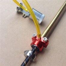 6.35 ミリメートルベアリング固定シート取付ブラケット + 1/4 インチソフトシャフトロック + オイル追加カップ容器用 RC ブラシレス電動ボート