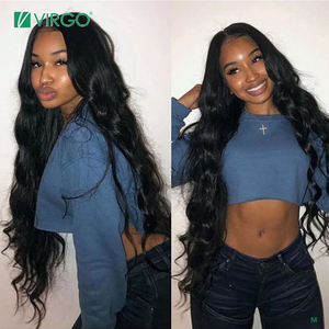 Virgo 28 30 Inch Body Wave Wig 4X4 Lace Closure Wig Human Hair Wigs for Women pre plucked With Baby Hair Remy 150% Density(China)