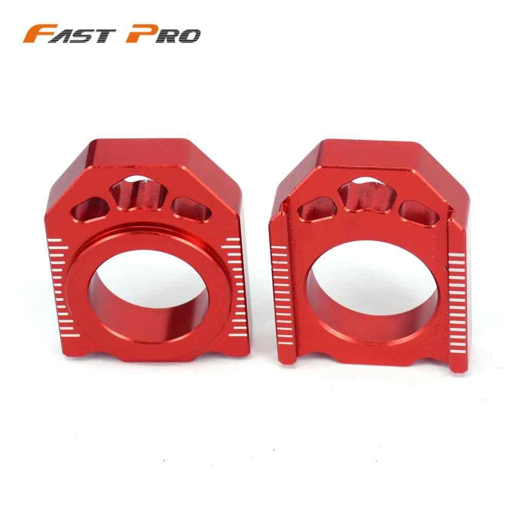 Red Chain Adjuster Block 1231-0379 Honda CR125R 2000-2007 CRF250R 2004-2016