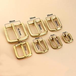 Image 2 - Одноштырьковая пряжка для ремня из твердой латуни, одноштырьковая Пряжка для кожаного ремесла, сумка для джинсов, тесьма для ошейника для собаки
