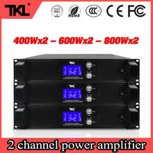 TKL PH800 2X800W 8ohms professional 2 channels power amplifier stage home karaoke DJ power amplifier