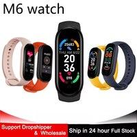 2021 M6 Smart Watch uomo donna braccialetto sportivo frequenza cardiaca monitoraggio Fitness Smartwatch per Apple Xiaomi Android Ios telefoni orologi