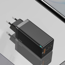Baseus 65 Вт Ган зарядное устройство Quick Charge 4,0 3,0 Тип C PD USB зарядное устройство с технологией QC 4,0 3,0 Портативный быстрое зарядное устройство для н...