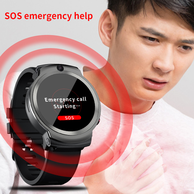 LEMFO LEM13 4G Android GPS Wifi Smart Watch Men Dual 8MP Cameras 1.6 inch Face ID 1280 mAh 3G 32G Smartwatch 4