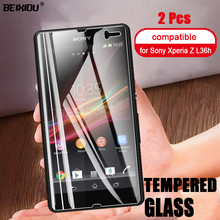 2 PCS Full Tempered Glass For Sony Xperia Z L36h  Screen Protector 2.5D 9h tempered glass For Sony Xperia Z l36h Protective Film kinston colorful rhombus pattern plastic hard case for sony l36h xperia z white red