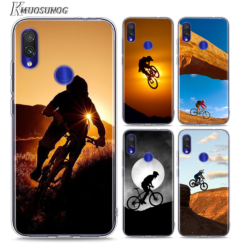 Soft TPU for Redmi 8 8A Cover <font><b>Amazing</b></font> mountain bike Bicycle for <font><b>Xiaomi</b></font> Redmi Note 8 7 6 5 4X 4 7A 6A 6 S2 5A Plus Phone Case image