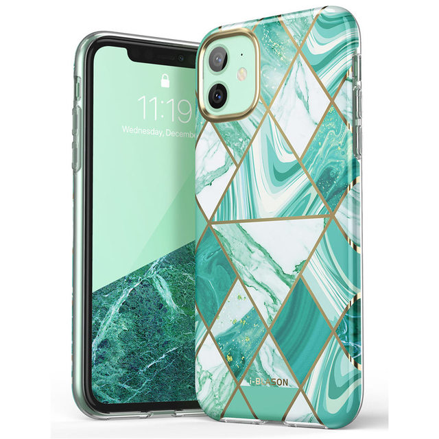 i Blason For iPhone 11 Case 6.1 inch (2019 Release) Cosmo Lite Stylish Hybrid Premium Protective Slim Bumper Marble Back Cover